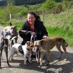 Nicky and her dogs