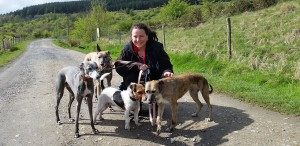 Nicky Evans and her dogs
